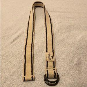Hollister 31 waist cream and navy accented belt